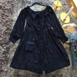 Calvin Rucker Silk Navy Dress